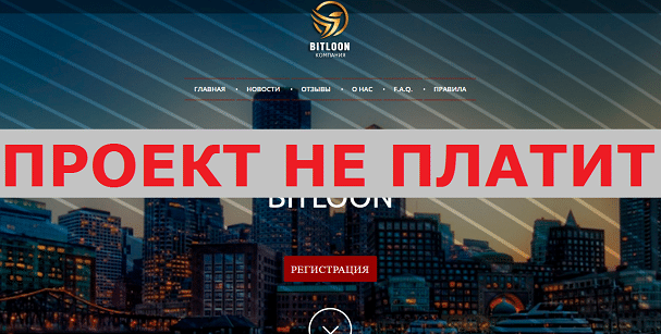 Инвестиционный проект BITLOON с bitloon.net