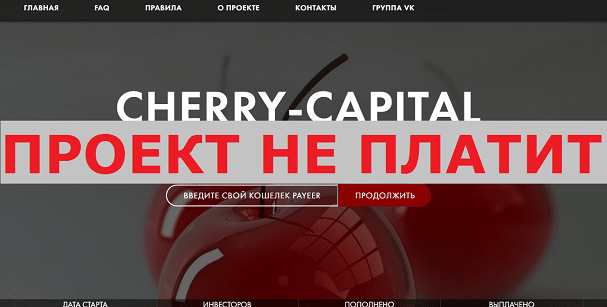 Инвестиционный проект CHERRY-CAPITAL с cherry-capital.site