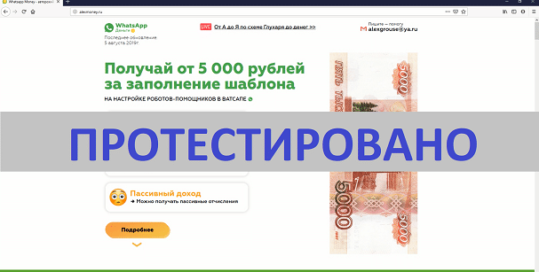 Whatsapp Money, Авторский курс Александра Глухаря, alexmoney.ru