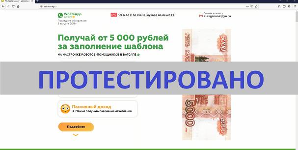 Whatsapp Money, Авторский курс Александра Глухаря, alexmoney.ru